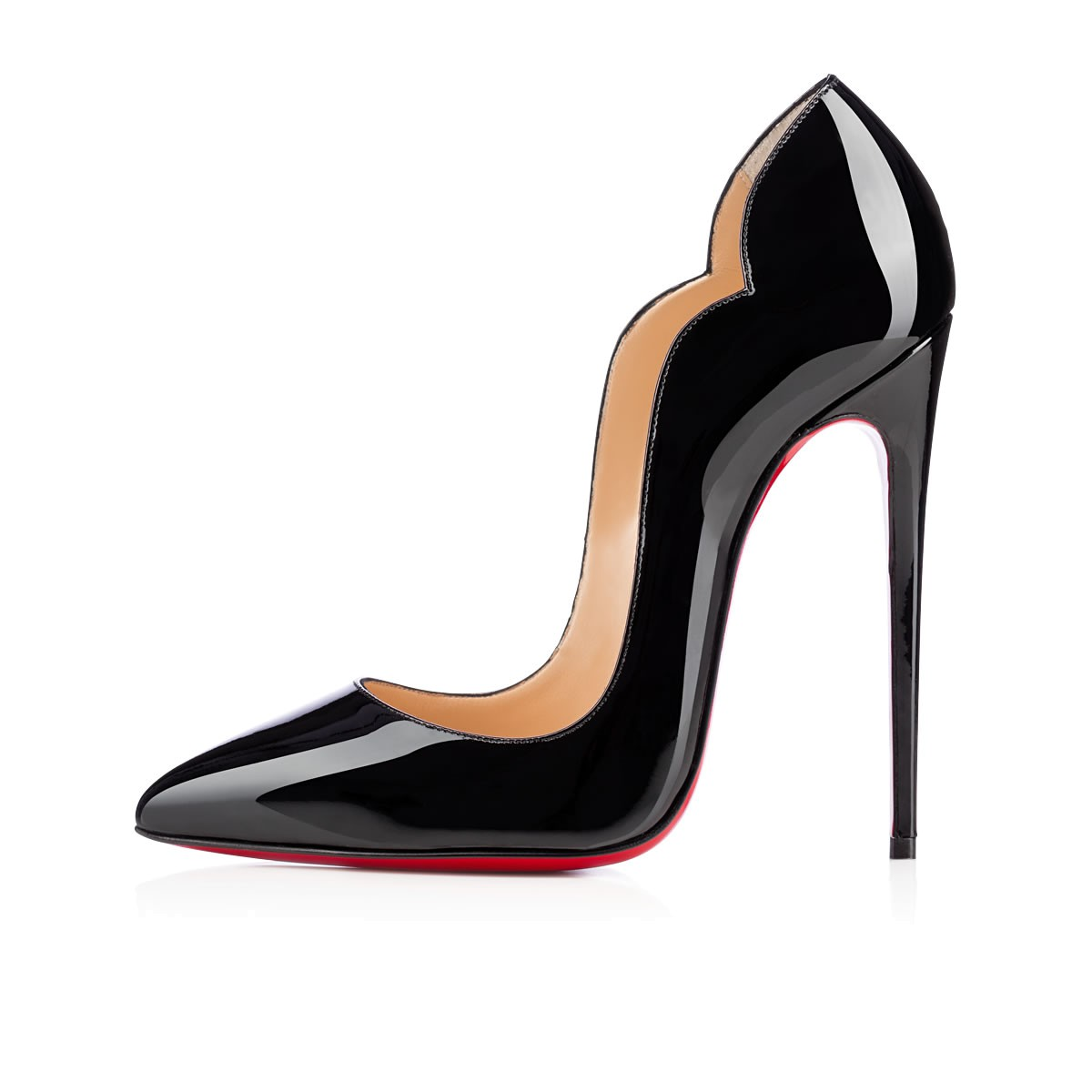 be7683d699a Christian Louboutin Hot Chick 130 Black Patent Leather - Women Shoes ...