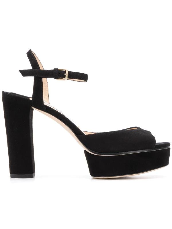 Jimmy Choo Women's Peachy 105 High-Heel Platform Sandals In Black