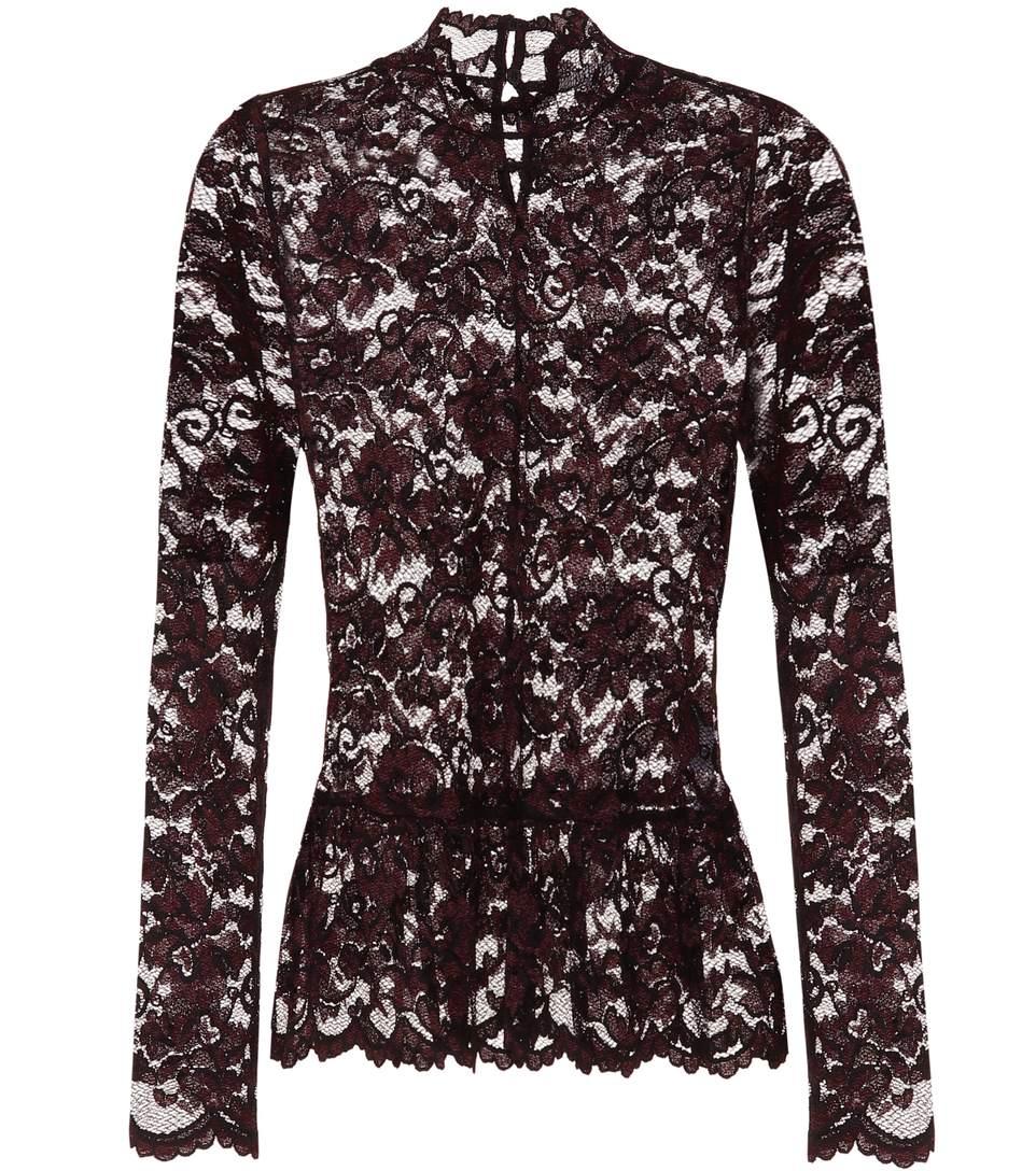5d1960ff Ganni Flynn Stretch-Lace Top In Black | ModeSens