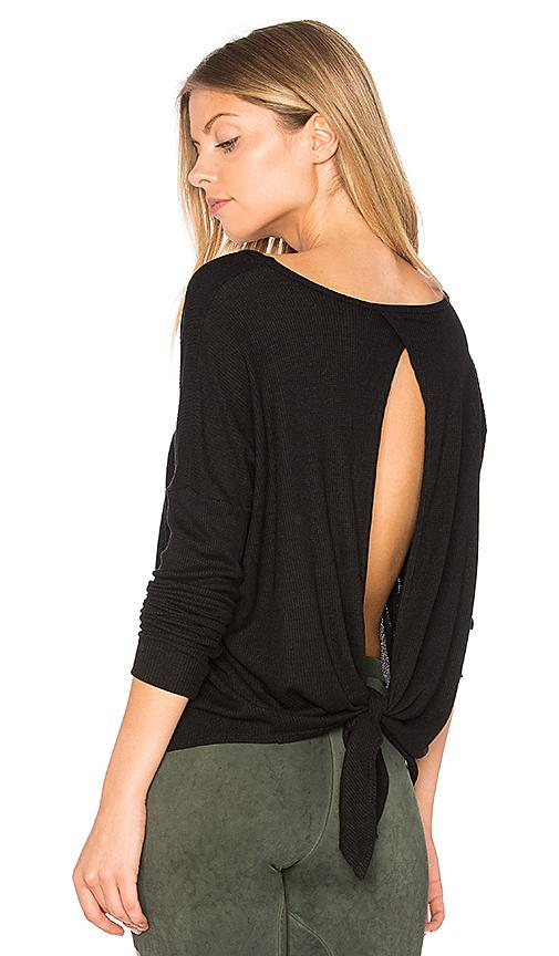 Blue Life Fit Open Back Top In Black