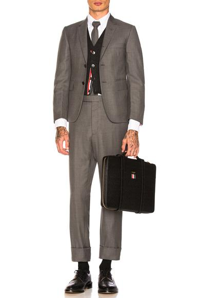 Thom Browne Classic Wool Suit In Gray.