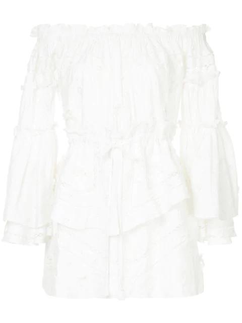 Aje Off Shoulder Dress In White