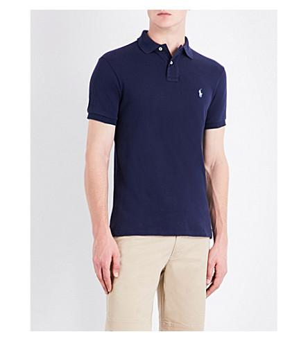 40474c7a Polo Ralph Lauren Slim-Fit Cotton-Jersey Polo Shirt In Newport Navy.  Selfridges