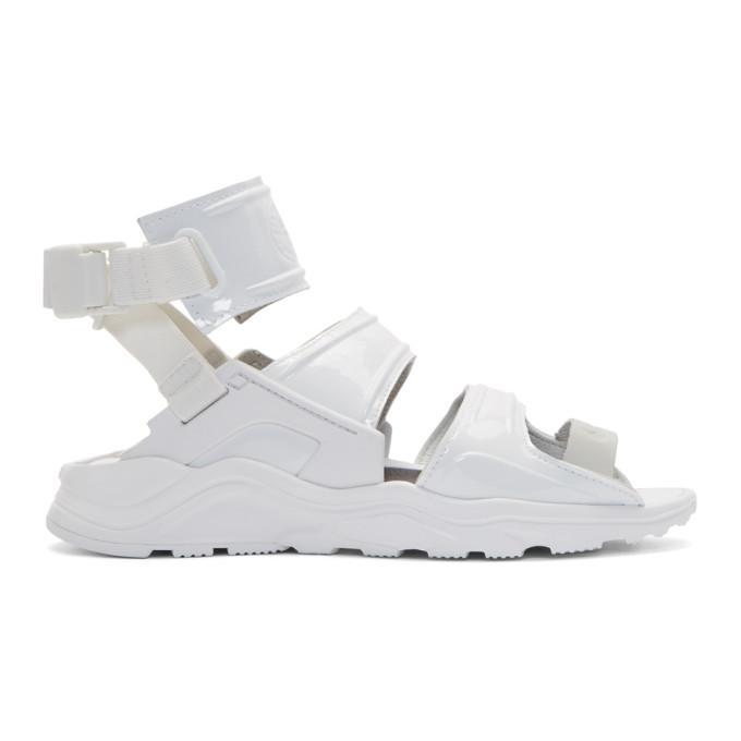 d375fdb8511c Nike  Air Huarache Gladiator Qs  Patent Sandals In Summit Whit ...