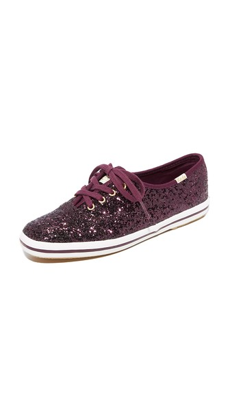 10d67d0089fe Keds X Kate Spade New York Glitter Sneakers In Deep Cherry
