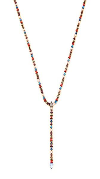 Rebecca Minkoff Multi-color Y Necklace, 15 In Gold/bright Multi