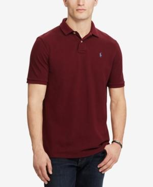 07e93bbb9 Polo Ralph Lauren Weathered Mesh Classic Fit Polo Shirt In Fall Burgundy