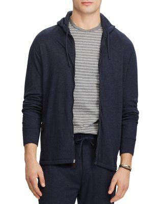 b3d4e3d279 Duofold Jacquard Knit Front Zip Hoodie in Winter Navy