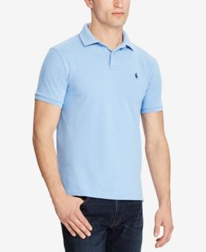 Custom Weathered In Shirt Polo Sleeve Slim Fit Blue Short mN8nw0