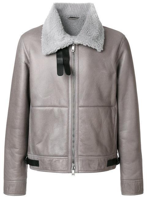 Jil Sander Fur Lined Leather Coat