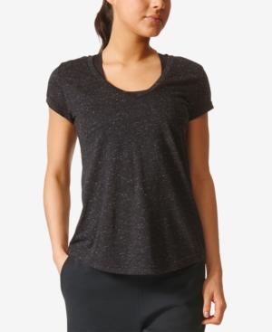 Adidas Originals Adidas Winners Melange V-Neck T-Shirt In Black