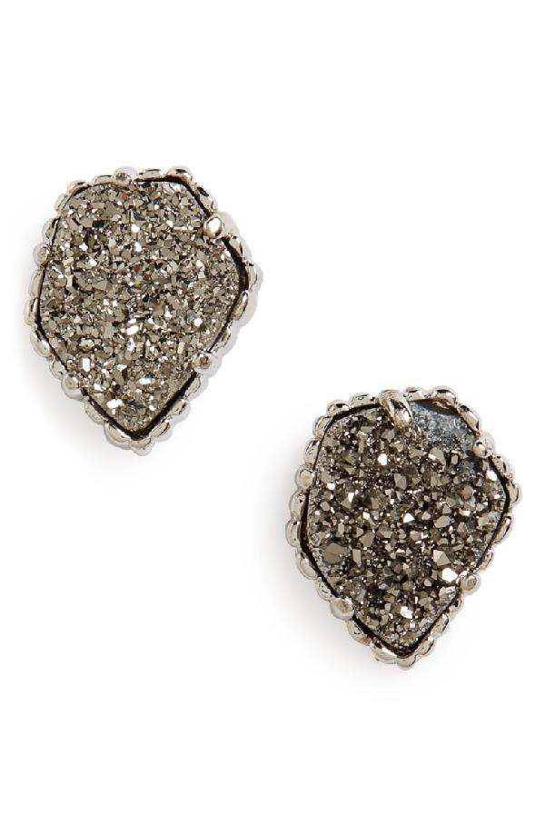 74bc414bb Kendra Scott Tessa Stone Stud Earrings In Rhodium/ Platinum Drusy ...