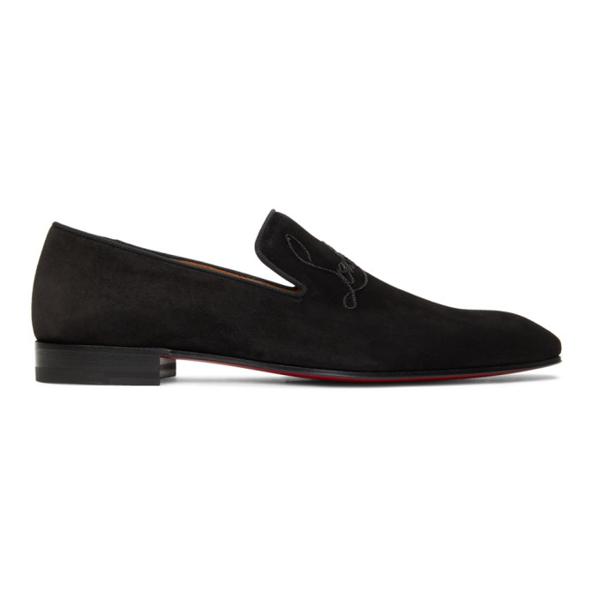 Christian Louboutin Black Dandelion Loafers In Bk01 Black