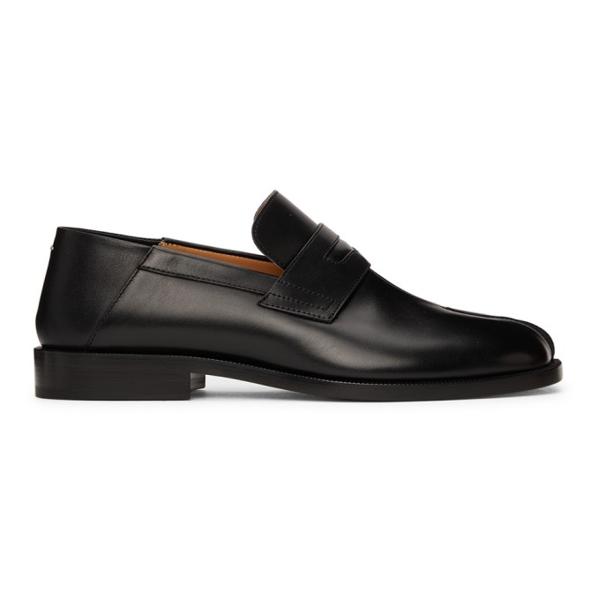 Maison Margiela Black Tabi Loafers In H8396 Black