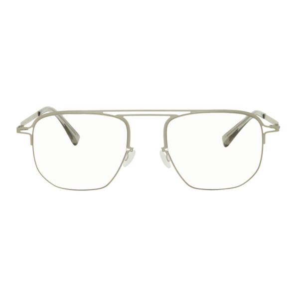 Maison Margiela Silver Mykita Edition Mmcraft013 Glasses In White