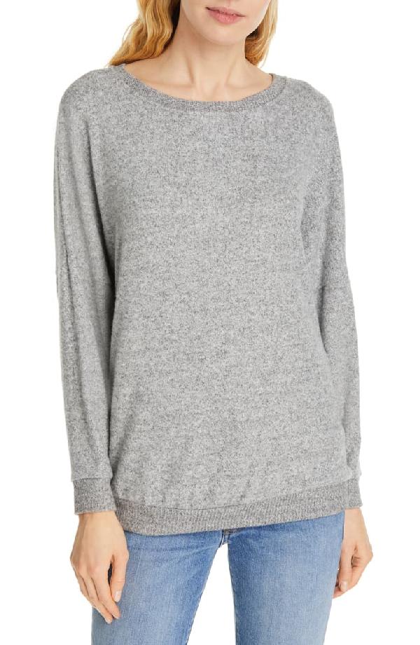 Soft Joie Jennina Drop Shoulder Sweater In Heather Grey
