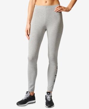 Adidas Originals Adidas Essential Linear Logo Leggings In Medium Grey Heather/Collegiate Navy