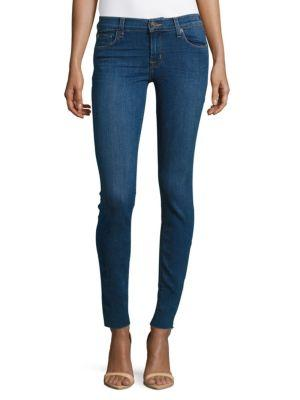 Hudson Raw Alluring Skinny Jeans In Alluring Blue
