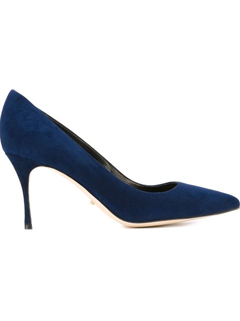Sergio Rossi Stiletto Pump Shoes In Blue