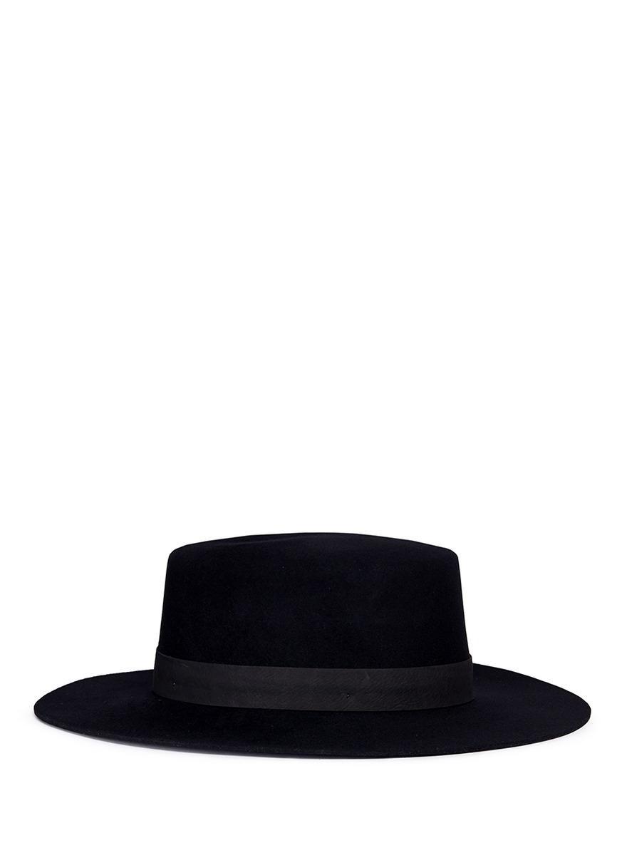 3640ef1f Janessa Leone 'Gabrielle' Suede Band Wool Felt Bolero Hat | ModeSens