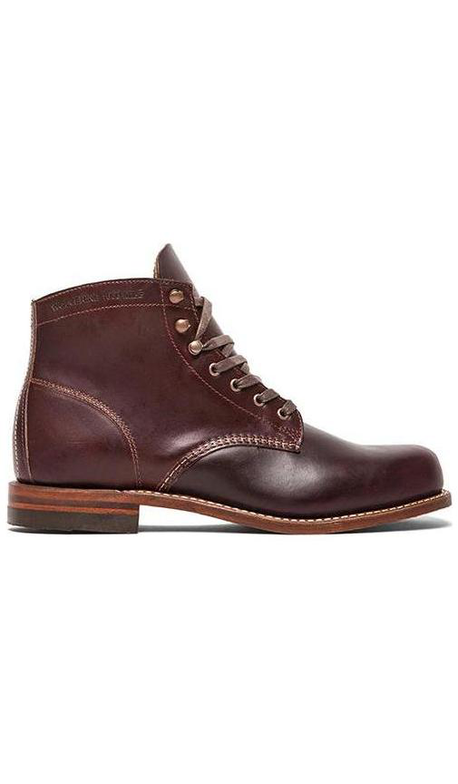 Wolverine 1000 Mile Plain Toe Boot In Brown Modesens