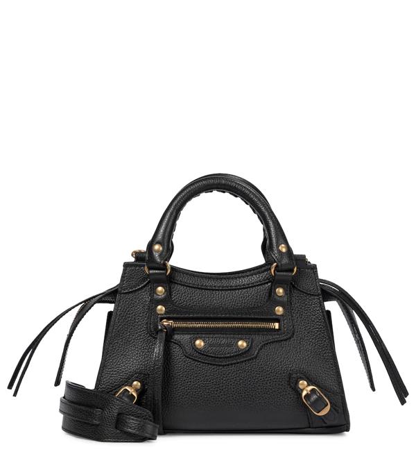Balenciaga Neo Classic Mini Leather Tote In Black