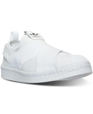 4869360b1 Adidas Originals Adidas Women s Superstar Slip-On Casual Sneakers From Finish  Line In Triple White