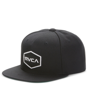 quality design 087c9 9e98c Rvca Commonwealth Snapback Baseball Cap - Black