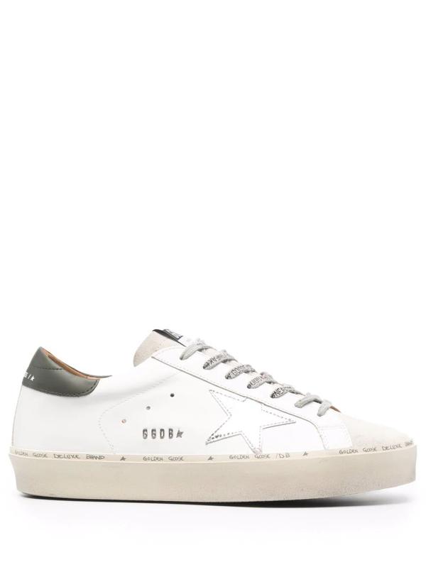 Golden Goose Hi Star Flatform Sneakers In Weiss