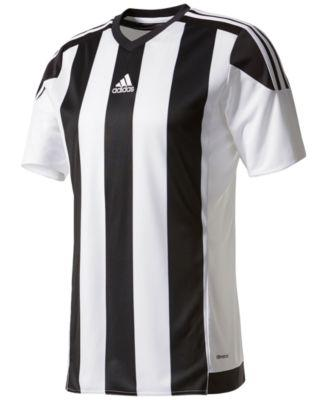 Adidas Originals Adidas Men's Climacool Striped Soccer Jersey In White/Black