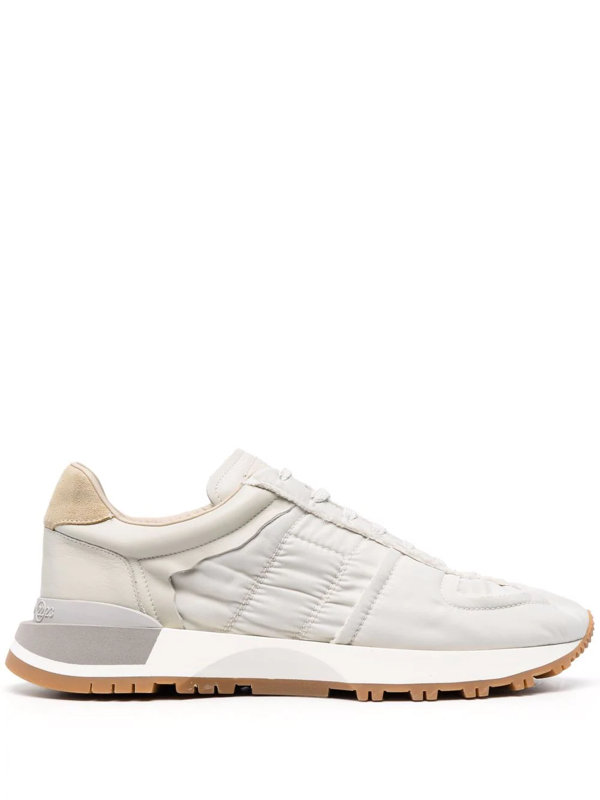 Maison Margiela Classic Low-top Paneled Sneaker Frost White In Nude