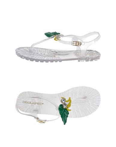 Dsquared2 Flip Flops & Clog Sandals In Transparent