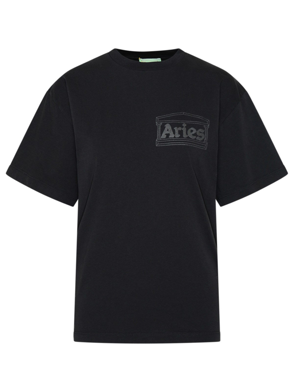 Aries T-shirt Temple Nera In Black