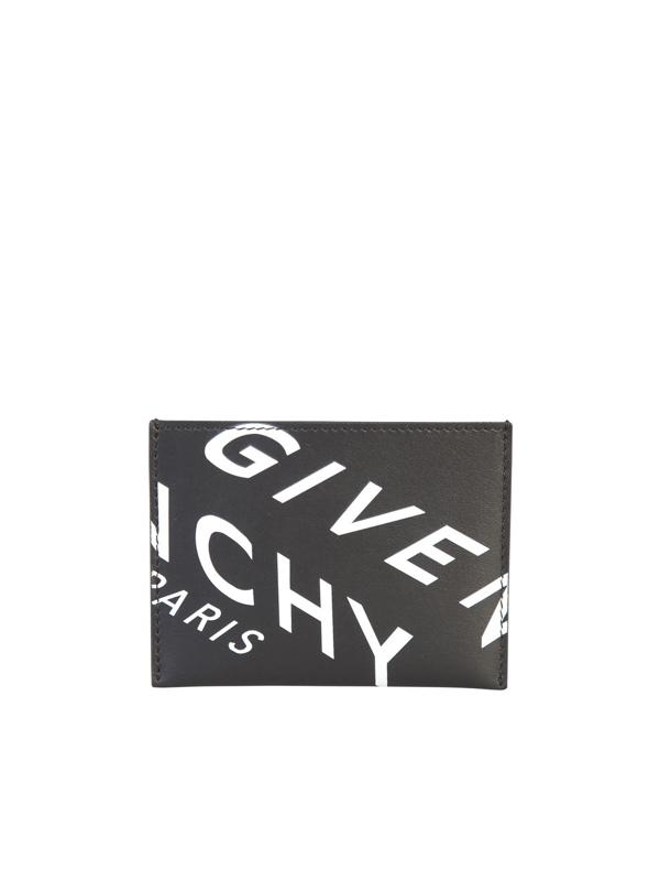 Givenchy Logo Card Holder In Black