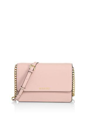 65bed16f8e9a Michael Michael Kors Large Daniela Leather Crossbody Bag - Pink In Soft Pink