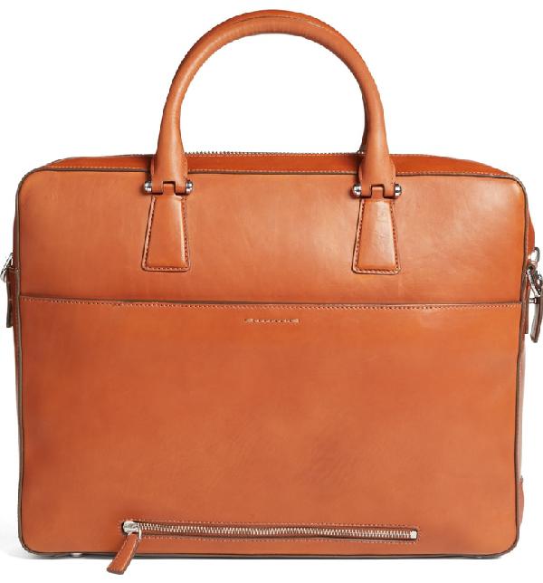 f0100fe3f2 Cole Haan Men's Washington Grand Leather Attache Case In Brandy Brown