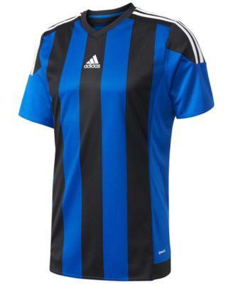 Adidas Originals Adidas Men's Climacool Striped Soccer Jersey In Blue/Black