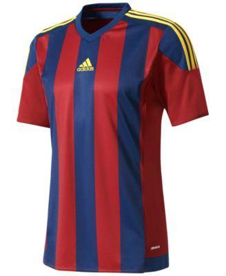 Adidas Originals Adidas Men's Climacool Striped Soccer Jersey In Burgundy