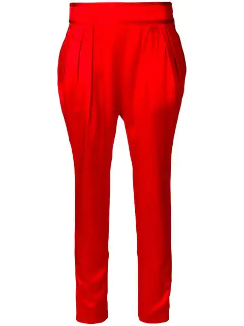 Givenchy Silk Satin Pant In Red