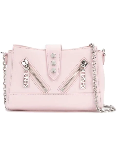 6f65fcec4b Kenzo Mini Kalifornia Leather Shoulder Bag - Pink | ModeSens