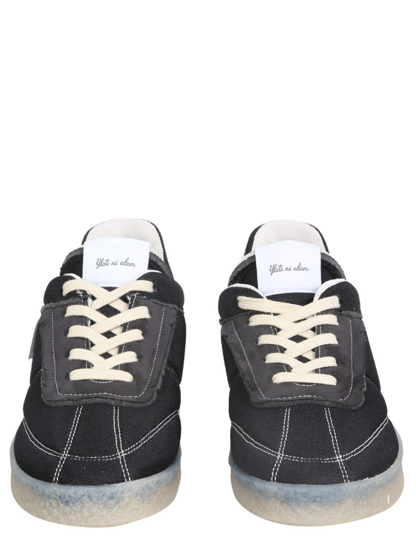Mm6 Maison Margiela 6 Court Inside Out Sneakers In Black