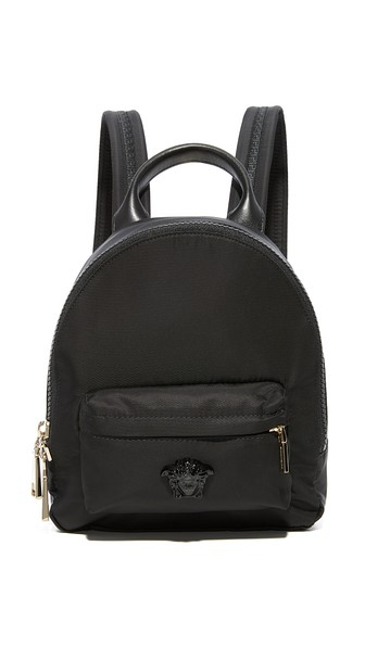 63f4f2d4058 Versace Mini Nylon Palazzo Backpack In Nero | ModeSens