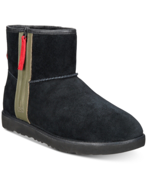 Ugg Mens Classic Waterproof Mini Zip Boots Mens Shoes In Black