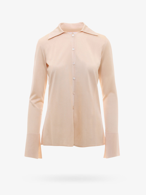 Erika Cavallini Knitted Polo Shirt In Beige