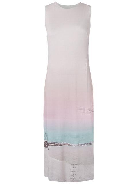 Osklen Gradient Midi Dress In Pink