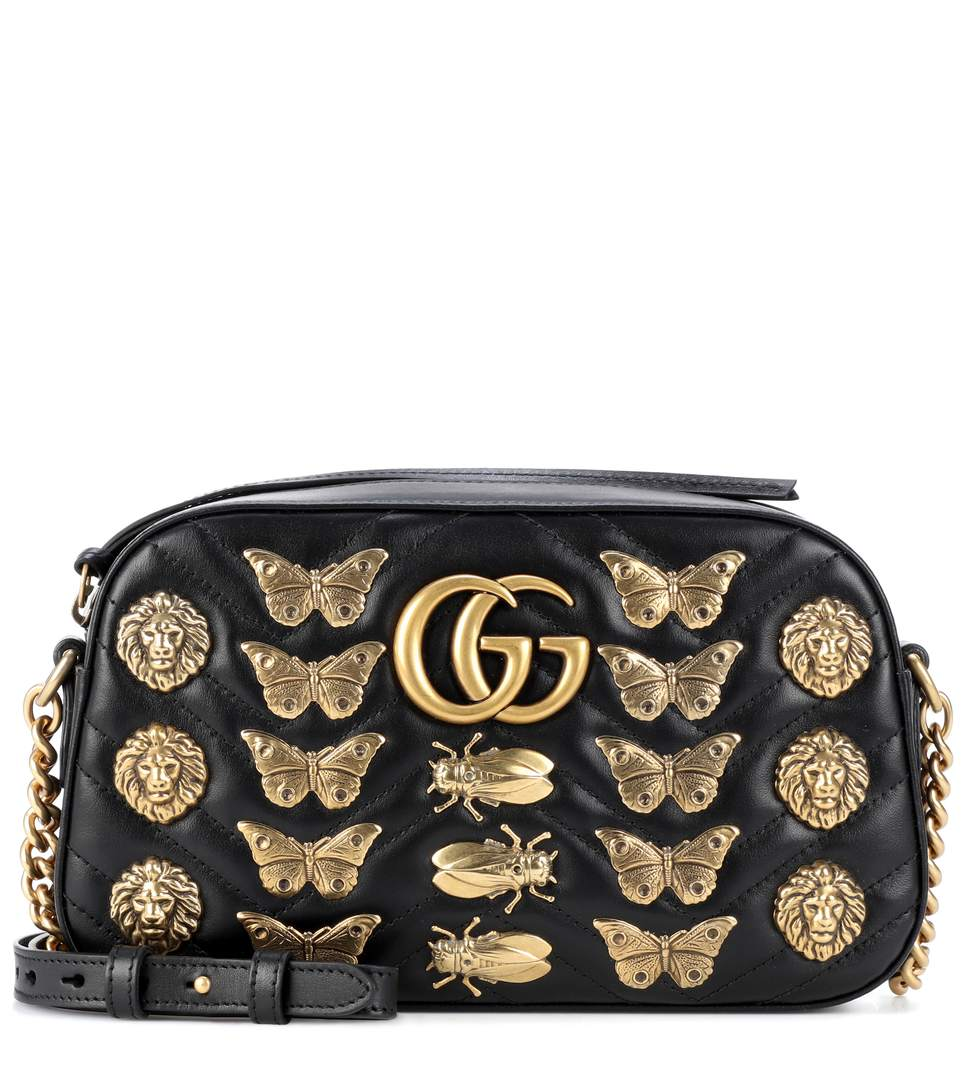 af89253f73b Gucci Marmont Bug MatelassÉ Shoulder Bag