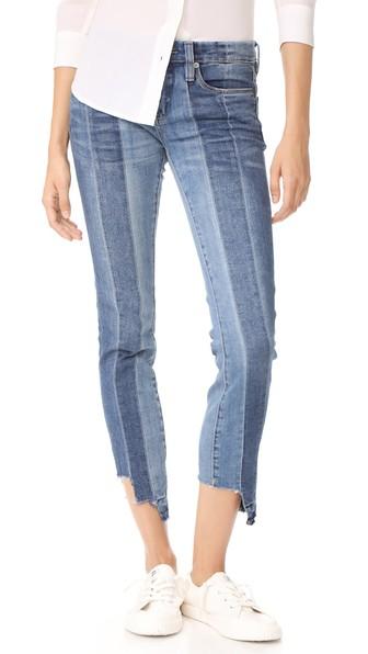Blank Denim High & Low Jeans In Blue
