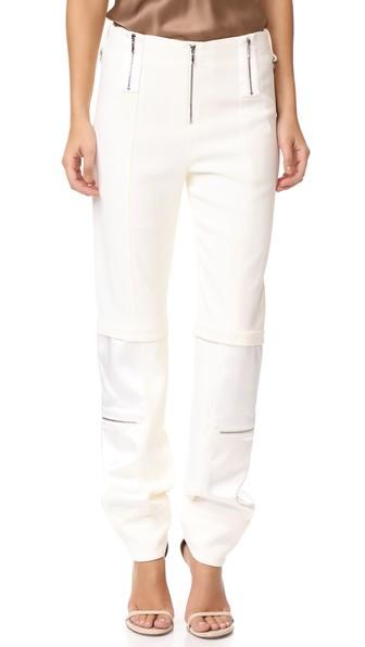 Jonathan Simkhai Panel Cocktail Pants In Bone