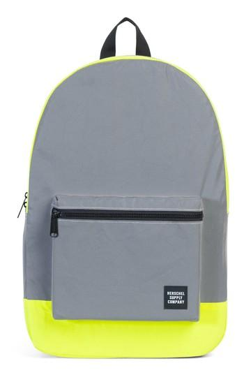 Herschel Supply Co. Herschell Supply Co. Packable Reflective Backpack - Grey In Silver/ Neon Yellow Reflective