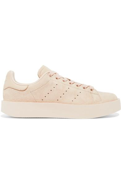 Adidas Originals Stan Smith Bold Leather-trimmed Suede Sneakers
